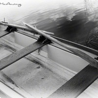nautical photograph of rowboat in water