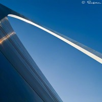St Louis Arch against blue sky