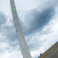 St Louis arch and steps