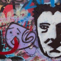 male face graffiti art photograph