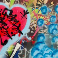 heart graffiti drawing photo print