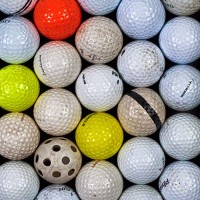 golf balls abstract photo art print