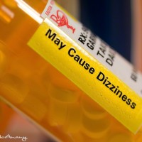 medical label dizziness hazard photo art print