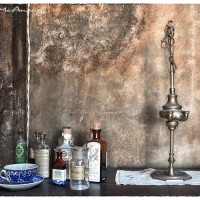 vintage medical bottles art photograph