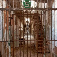 photograph of cell block of prison