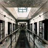 cell block in Eastern State Penitentiary