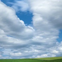 farmland and sky landscape art print