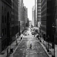 New York City street empty