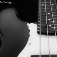 bass guitar photo art print