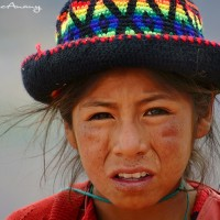Peruvian mountain child art print