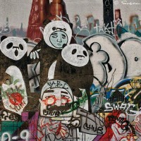 panda bear graffiti art print