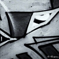 robot graffiti drawing photo