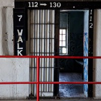 prison cell on 7th floor photograph