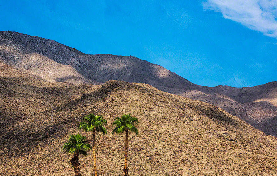 palm springs mountains art print