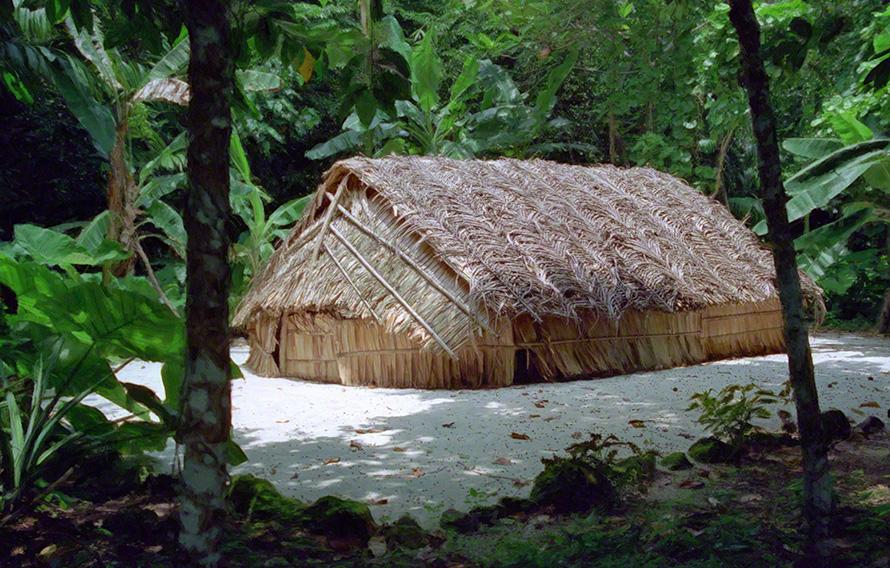 Thatch hut in Tikopia, Soloman Islands