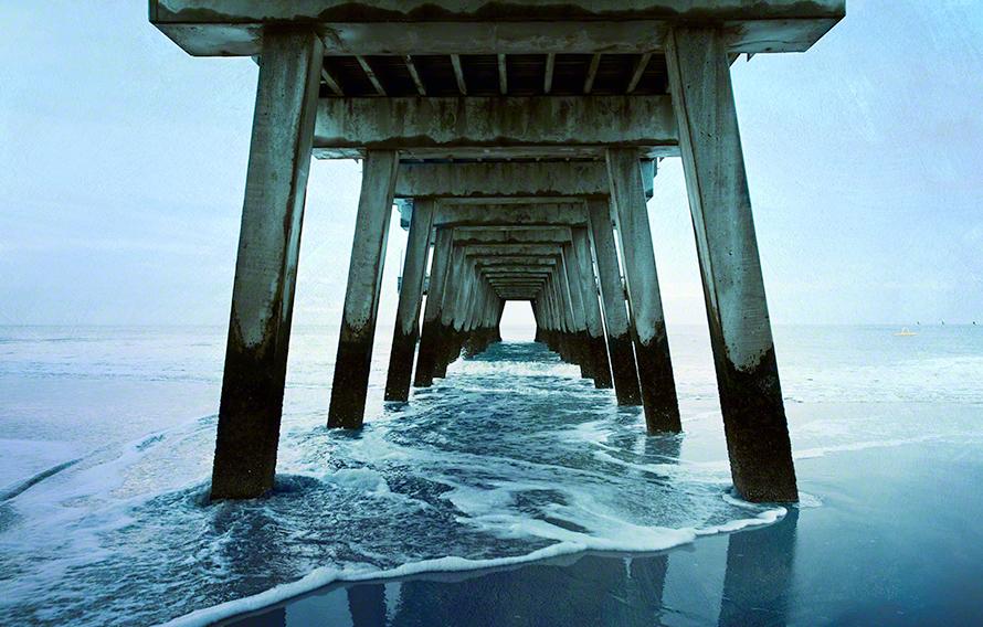 Pier in Atlantic Ocean art print.
