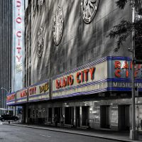 Radio City, NYC black and white print