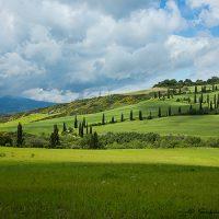 Tuscany landscape scene