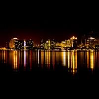 Art print lights on Sarasota Bay