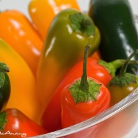 dining art print of peppers in bowl