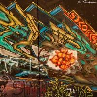 brown graffiti photograph