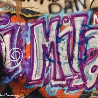 purple graffiti text photograph