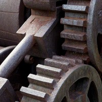 sugar plantation equipment photo print