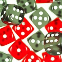 gambling dice photo art print