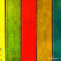 Vertical columns of color and lines art print