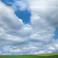 farmland and sky landscape art print