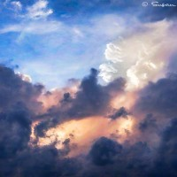 sunset and biblical cloud art print