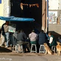 peru street scene art photo
