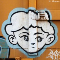 train graffiti photo art