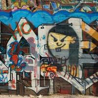 multi colored graffiti drawing