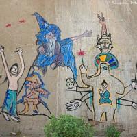 spiritual mystic figures on wall