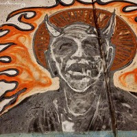 graffiti devil drawing photo