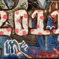 2011 graffit drawing on wall