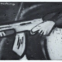 gun graffiti drawing photograph