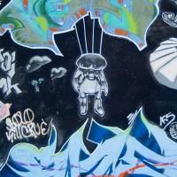 graffiti of shapes and symbols