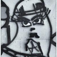 black and white graffiti art print