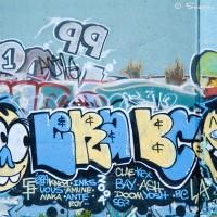 symbols and faces graffiti drawing photo