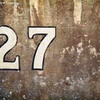 number 27 on train tracks