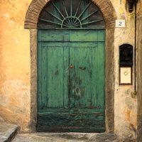 Fine art print of green door in Italy.