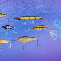 New media fishing abstract art.